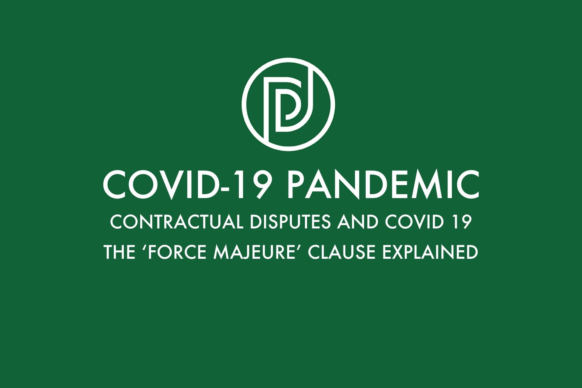 Contractual Disputes & Covid-19